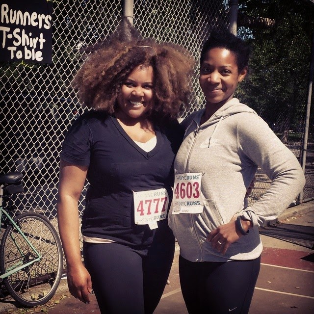 Patranila and Cherelle post-race at the McCarren Park 5K
