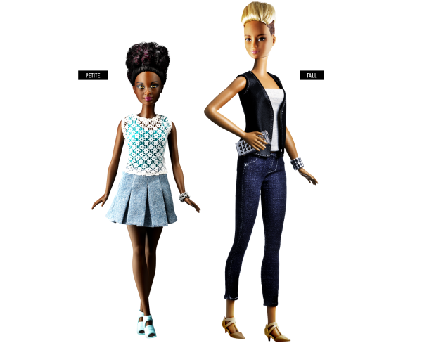 New-Barbie-Dolls-in-variety-of-sizes-shapes-colors.