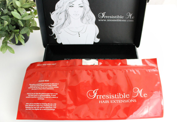 Irresistible Me Remy Hair Extensions Review and Packaging
